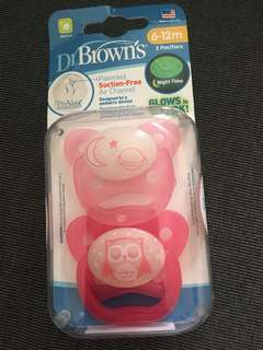 Dr browns brown pacifier 6-12m