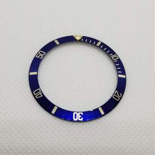 Rolex Blue Bezel insert for submariner 16613 16618 Flat4 勞力士 平4圈片 T珠 已沒有夜光