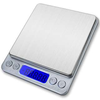 938. Spirit Digital Kitchen Scale Accuracy Pocket Food Scale Pronto Digital Multifunction Cooking Scale 0.01oz/0.1g 3000g with Back-Lit LCD Display (Silver)