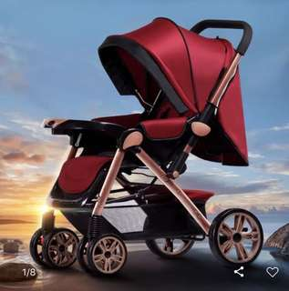 Casa Multi Function Stroller Red