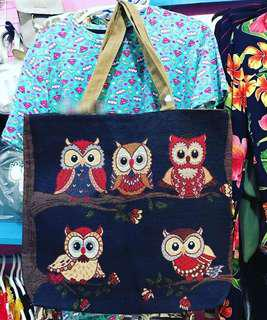 Owl Canvass Tote Bag