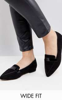 ASOS Wide fit pointed ballet flats