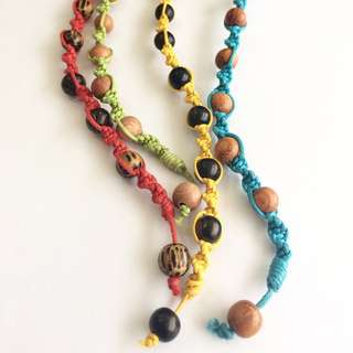 Tropical twisted beadlock anklet