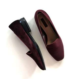 Forever21 Maroon Suede Pumps