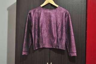 Shiny Purple Top