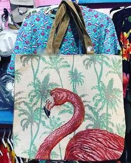 Flamingo Canvass Tote Bag