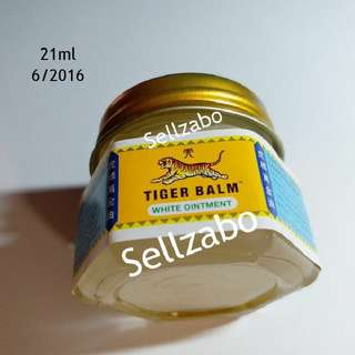 21ml 万金油 White Ointment Tiger Balm Cream Sellzabo Soothes Soothing Relief Relieve