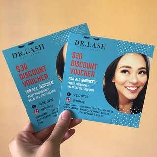 $60 DR. LASH Vouchers