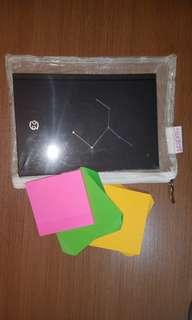 Black Matte Cancer Zodiac Notebook Pack