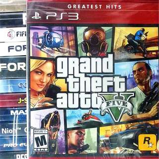 [NEW NOT USED] PS3 Grand Theft Auto V GTA 5 Sony Rockstar Action Games GTA5 GTAV