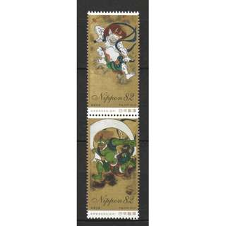 JAPAN 2018 PHILATELIC WEEK (FOLDING SCREEN PAINTING) COMP. SET OF 2 STAMPS IN MINT MNH UNUSED CONDITION