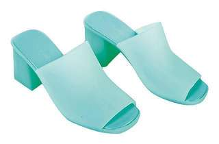 🚚 全新Jeffrey Campbell穆勒鞋JC時尚果凍高跟涼鞋拖鞋(湖水藍7號)