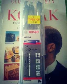 Bosch hss g metal drill lima batang dalam kotak