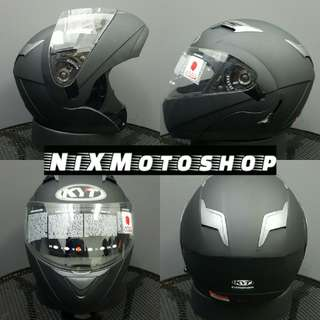 KYT Convair Matte Black Flip-Up Helmet