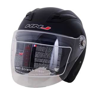 HNJ Half Face Motorcycle Helmet With ICC ( BPS ) Certified Cash On Delivery Nationwide