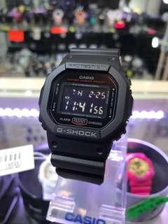 G-SHOCK 經典5600方形款 紅黑色👍🏻