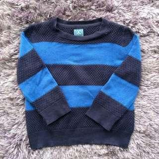 semi knitted sweatshirt