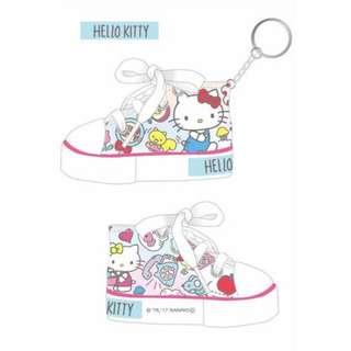 Hello Kitty 帆布鞋鑰匙圈