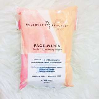 Rollover Reaction Face Wipes