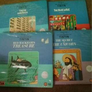 The Adventure of Tintin : Rackham's treasure, Blue Lotus, Tintin in America & Secret of The Unicorn