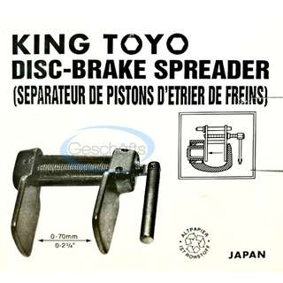 King Toyo Disc Brake Piston Spreader Tool