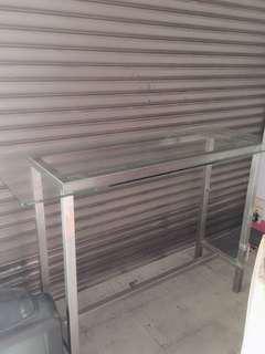 玻璃工作檯桌(近全新