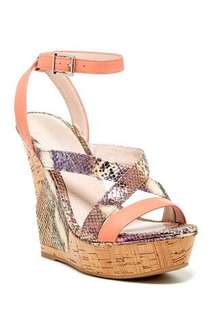 BCBG Pink Rizza Wedge