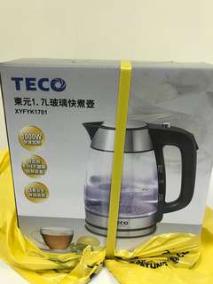 🚚 東元1.7公升 玻璃快煮壺