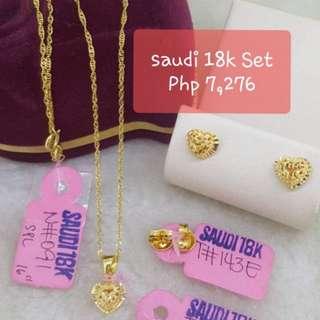 1 Set 18k saudi gold