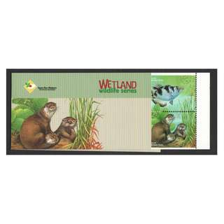 SINGAPORE 2000 CARE FOR NATURE SERIES WETLAND WILDLIFE (ARCHER FISH & SMOOTH OTTER) BOOKLET OF 10 STAMPS SC#947e IN MINT MNH UNUSED CONDITION