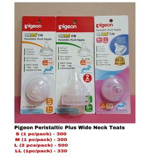 Pigeon Peristaltic Plus Wide Neck Teats/Nipple