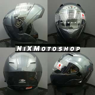 KYT Convair Antharcite ( Titanium ) Flip-Up Helmet