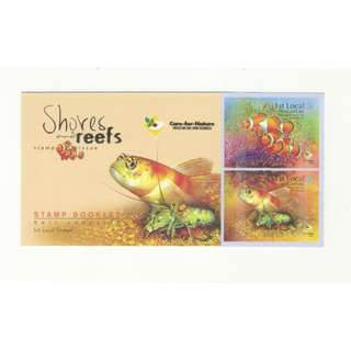 SINGAPORE 2007 SHORES & REEFS (FISH) BOOKLET OF 10 SELF ADHESIVE STAMPS SC#1282a IN MINT UNUSED CONDITION