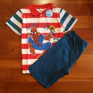 Spiderman polo casual set pant