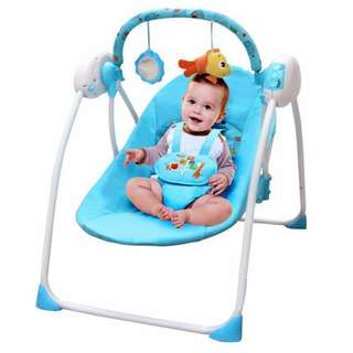 Blue Primi Baby Electric Rocking Chair Cradle Baby Chair Portable Swing