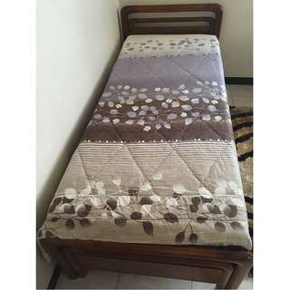 Bed Frame for Single Size Bed (made from Kayu Jati asli)