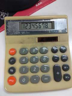 Citizen Calculator, model SDC 814