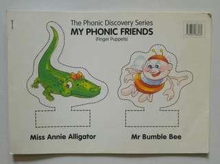 Finger phonics puppet