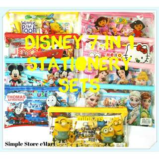 ★♥Disney Cartoon 7-in-1 Stationery Sets For Sale★♥