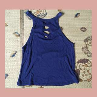Knitted Top - Navy Blue