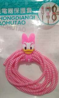 Spiral Cable Protector / Pelindung Kabel (Daisy Duck)