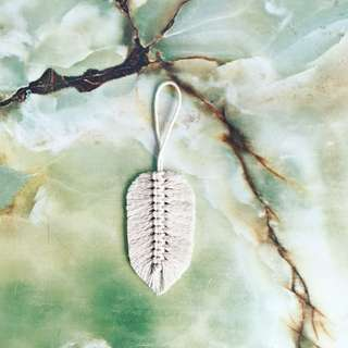 "Handmade feather macrame - ""the left sided"""
