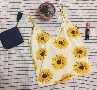 sunflower croptop