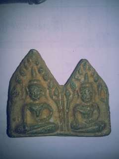 Ancient Baked Clay Twin Khun Paen