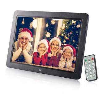 941. Digital Photo Frame,12 inch Widescreen Digital Photo & HD Video Frame HD Digital Picture Frames With Wireless Remote Control support Advertising Player / Digital Calendar / Music Video Player