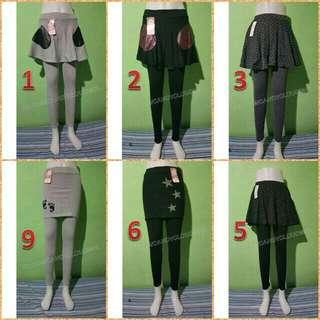 Leggings with skirt