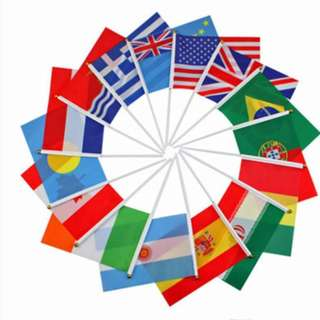 World Cup Hand Hold Flag (1 set)