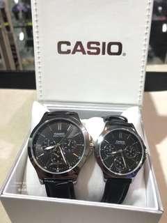 一對價錢 Casio classic 情侶款 三圈 有星期/日歷/24小時顯示 文青 可單隻購