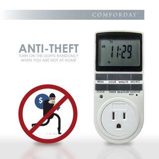(179) Comforday Indoor Plug-In Digital Timer, 2 Pack 15A/1800W 7 Day Programmable