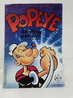 絕版Popeye Knitting Book 編織書(4 patterns)
